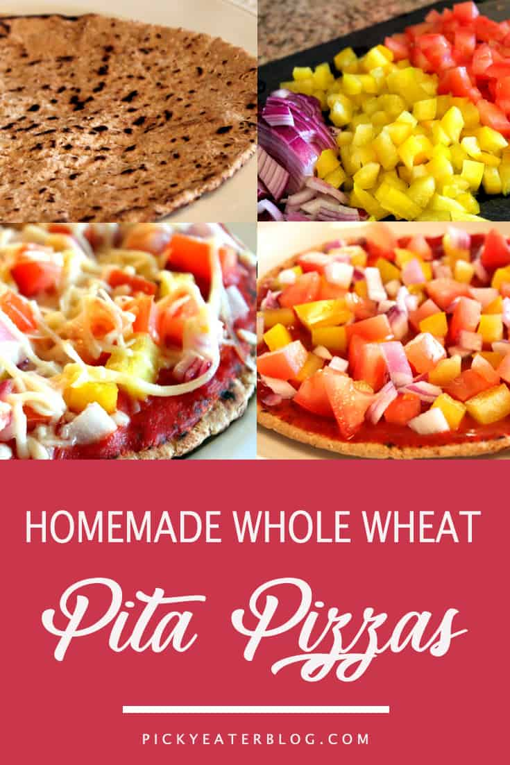homemade wholewheat pita pizzas. quick easy recipes, healthy food for picky kids, healthy food for picky husband, healthy tasty food, healthy food on a budget