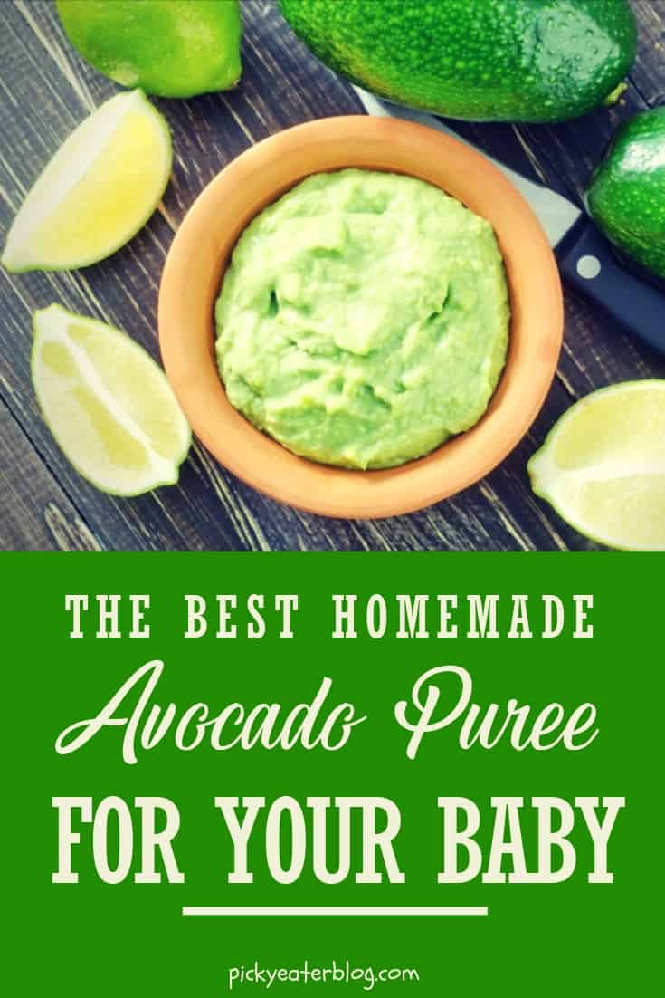 the best homemade avocado puree for your baby. homemade baby food organic, making baby food recipes, baby food puree, baby food ideas, baby food introducing, healthy baby food recipes