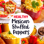 These Healthy Mexican Stuffed Peppers are the perfect weeknight meal! They're super filling, delicious and kid-friendly too!