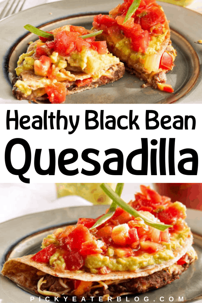 Looking for a quick and healthy weeknight dinner? This healthy black bean quesadilla is exactly what you need! It is fast healthy and delicious!