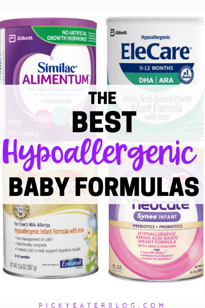 Trying to find a healthy hypoallergenic baby formula for your little one? This post outlines the best hypoallergenic formulas on the market today!