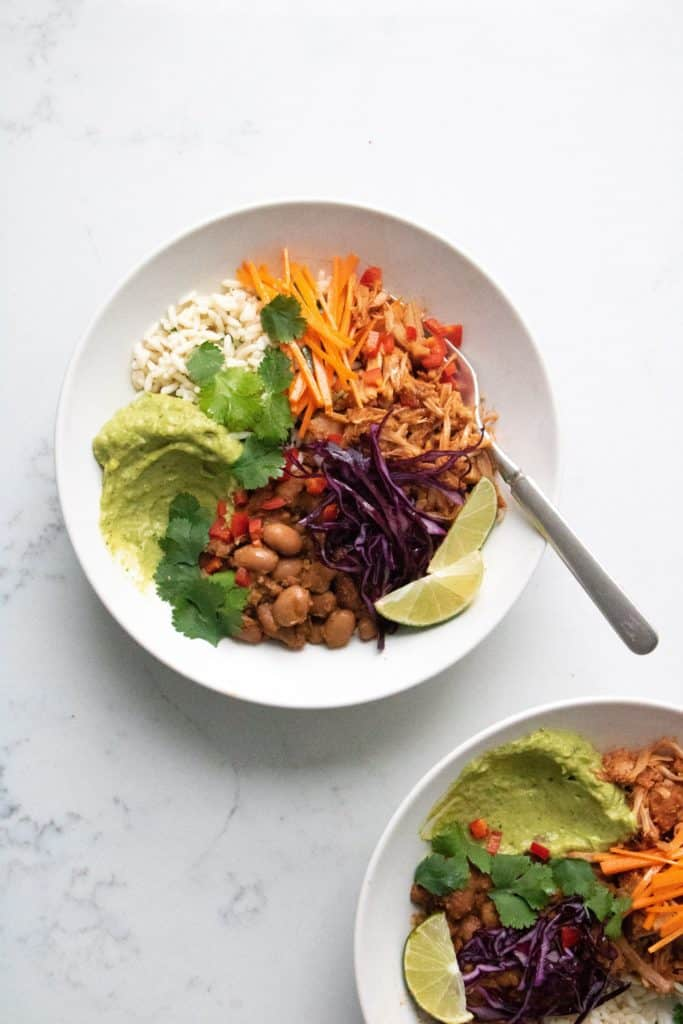BBQ Jackfruit Burrito Bowl - The Picky Eater