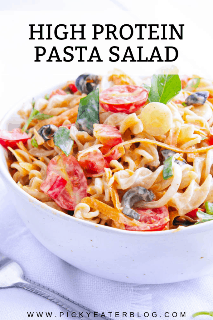 If you are looking for an easy make ahead dish, then this Protein Packed Pasta Salad with Olives and Herbs could be for you!