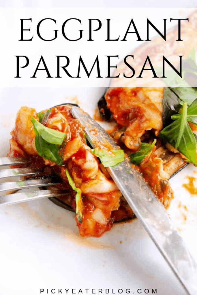 This low-carb, healthy eggplant parmesan is a lightened up version of the classic Italian dish. Made without breadcrumbs, each slice is low in calories and low in fat, without compromising on flavor.