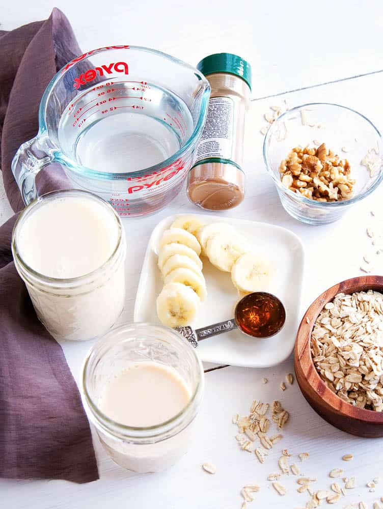 Ingredients for Banana Bread Oatmeal