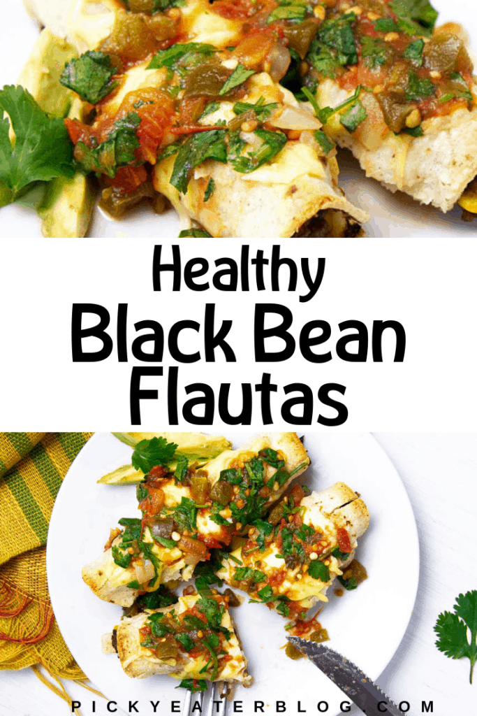If you love Mexican food, you will love these Healthy Vegetarian Black Bean Flautas. Packed full of flavor, easy to make and perfect for a weeknight meal.