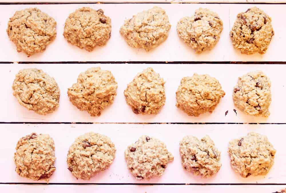 gluten free lactation cookie recipe on a wooden surface