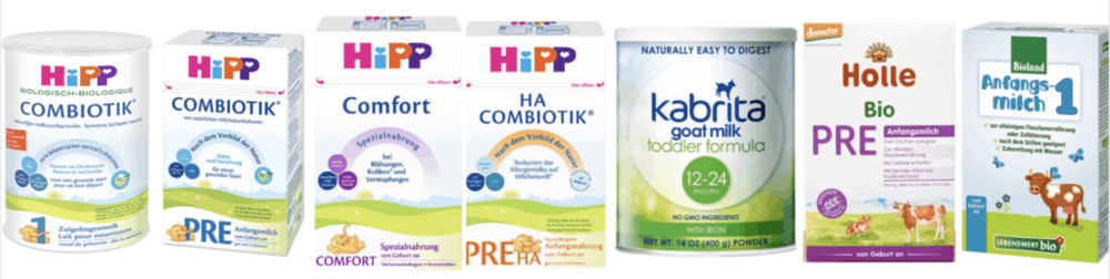 Best Baby Formulas for Preventing Constipation pictured against a white background