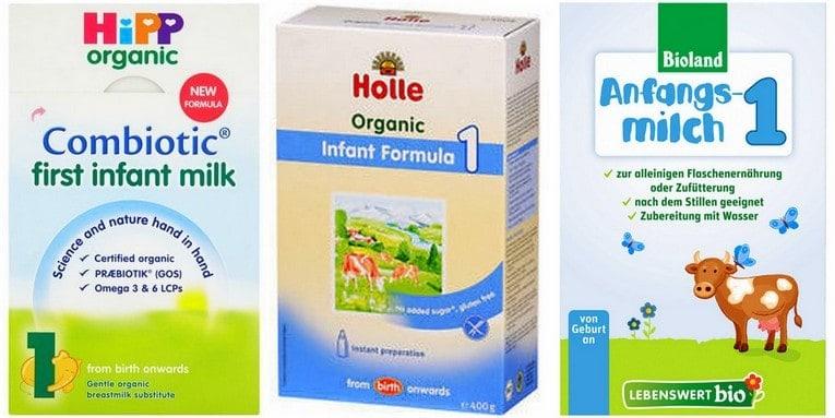 hipp baby formula, holle baby formula and lebenswert baby formula