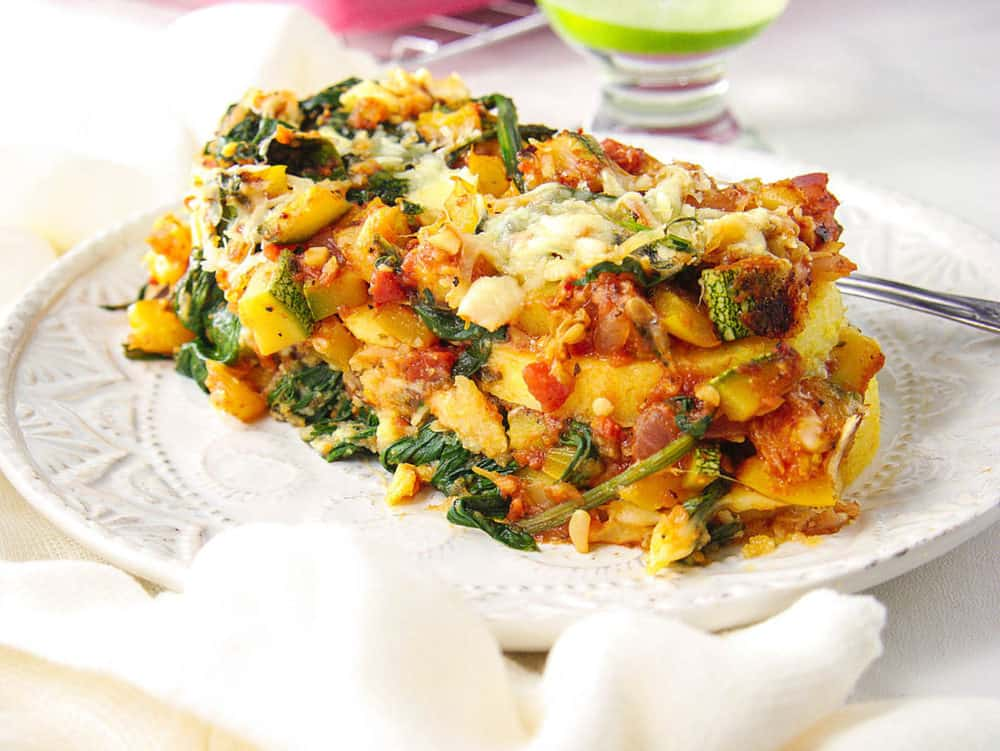 Gluten Free Lasagna with Polenta and Vegetables