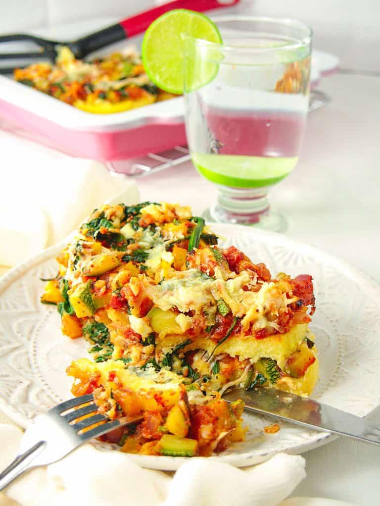 Gluten Free Lasagna with Polenta and Vegetables