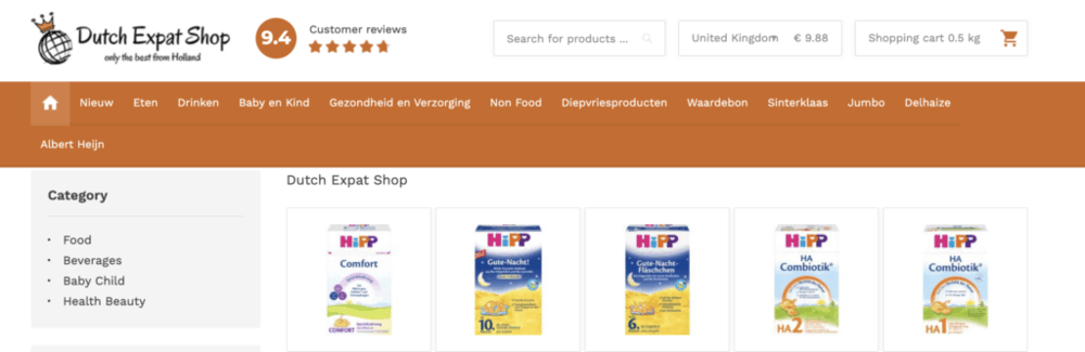 DutchExpatShop - where to buy the best organic baby formula - holle, hipp and lebenswert formula