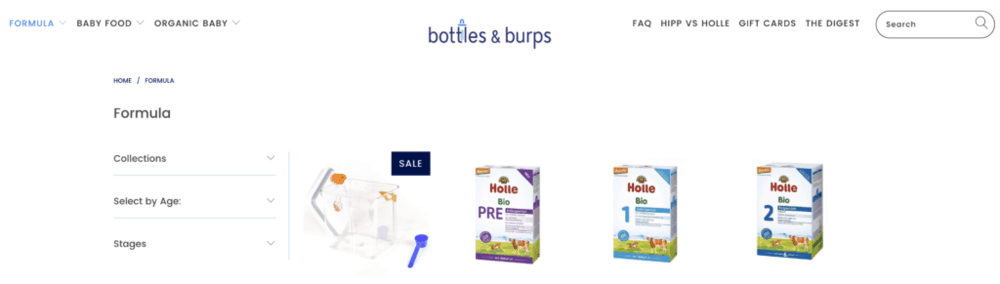 Bottle & burps - where to buy the best organic baby formula
