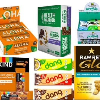 best vegan protein bars - image of variety of vegan protein bars