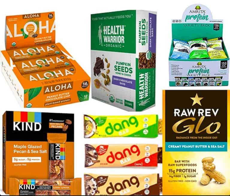 best vegan protein bars - image of variety of vegan protein bars