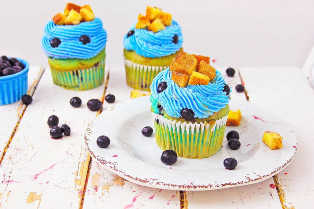 healthy blueberry cupcakes with french toast
