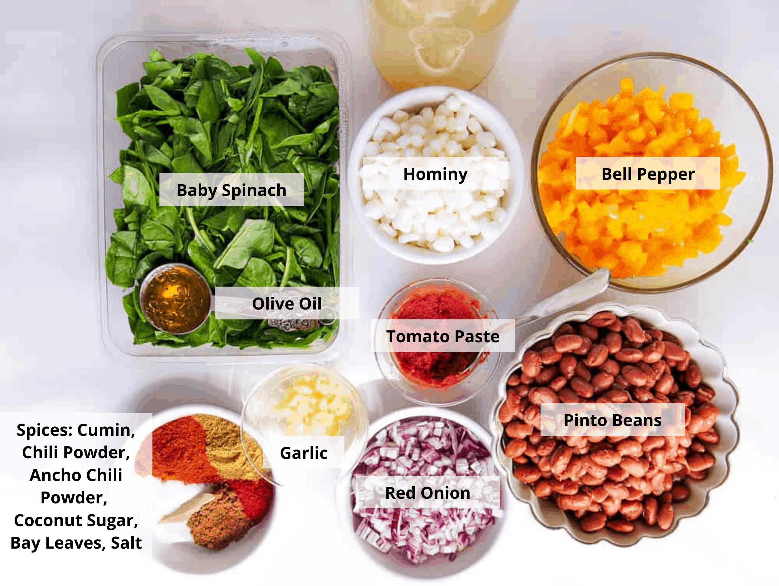 vegan pozole ingredients