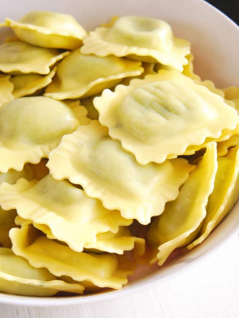 cooked ravioli