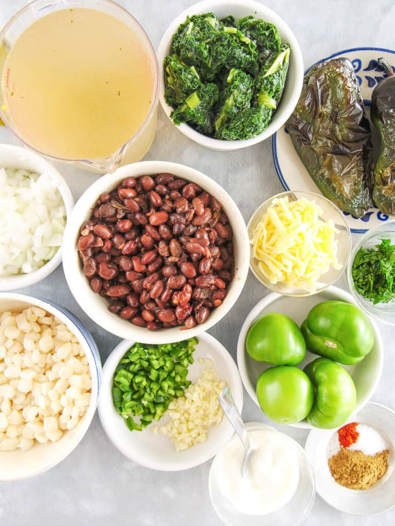 ingredients for vegetarian black bean soup