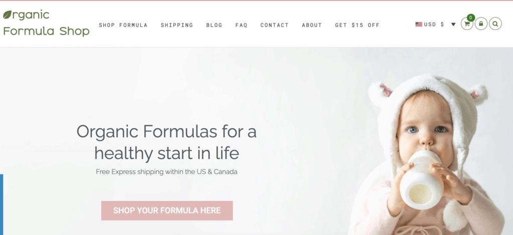 organic formula shop