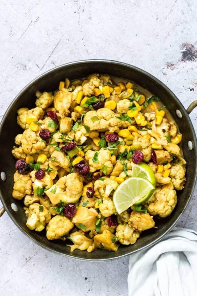 best air fryer vegetable recipes - cauliflower curry