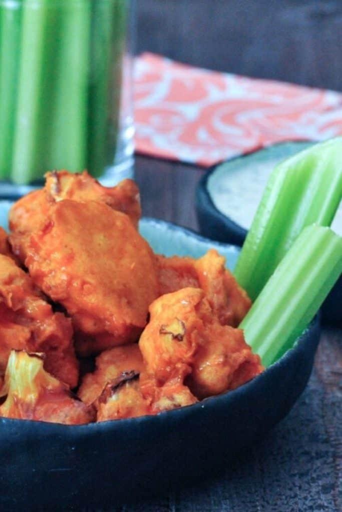 best air fryer vegetable recipes - buffalo cauliflower