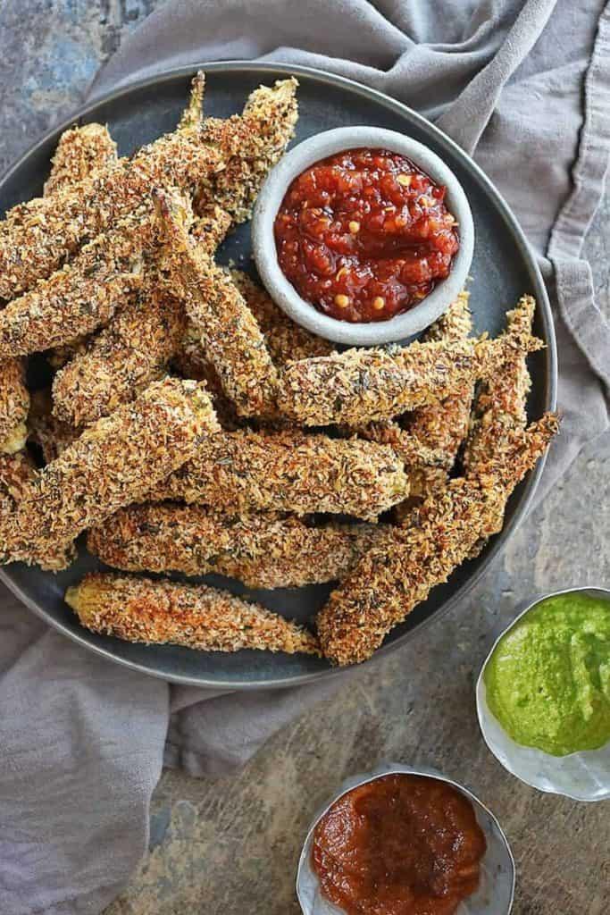 best air fryer vegetable recipes - fried okra