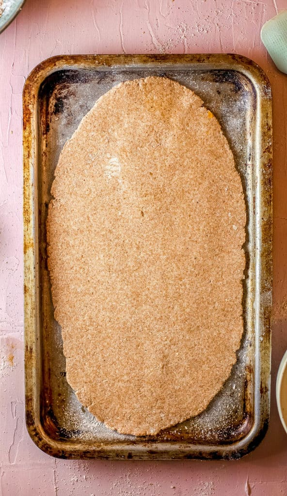 dough on a pan