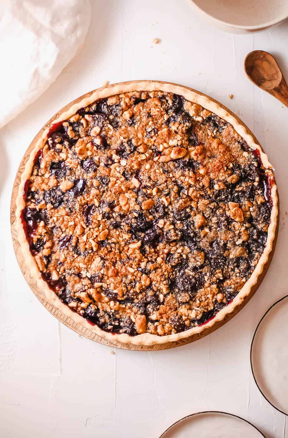 Cherry Crumb Pie (Easy, Kid-Friendly)