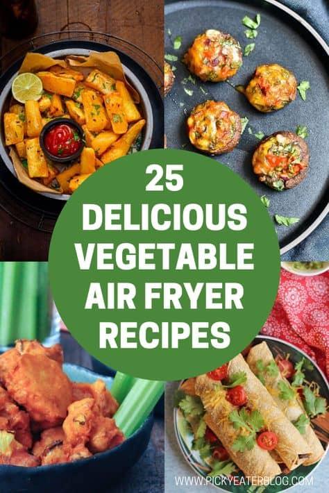 best air fryer vegetable recipes - air fryer chickpeas