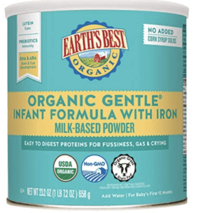 earth's best gentle infant formula