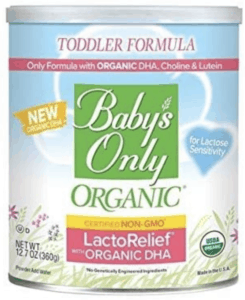 babys only lactorelief - melhor fórmula de bebê