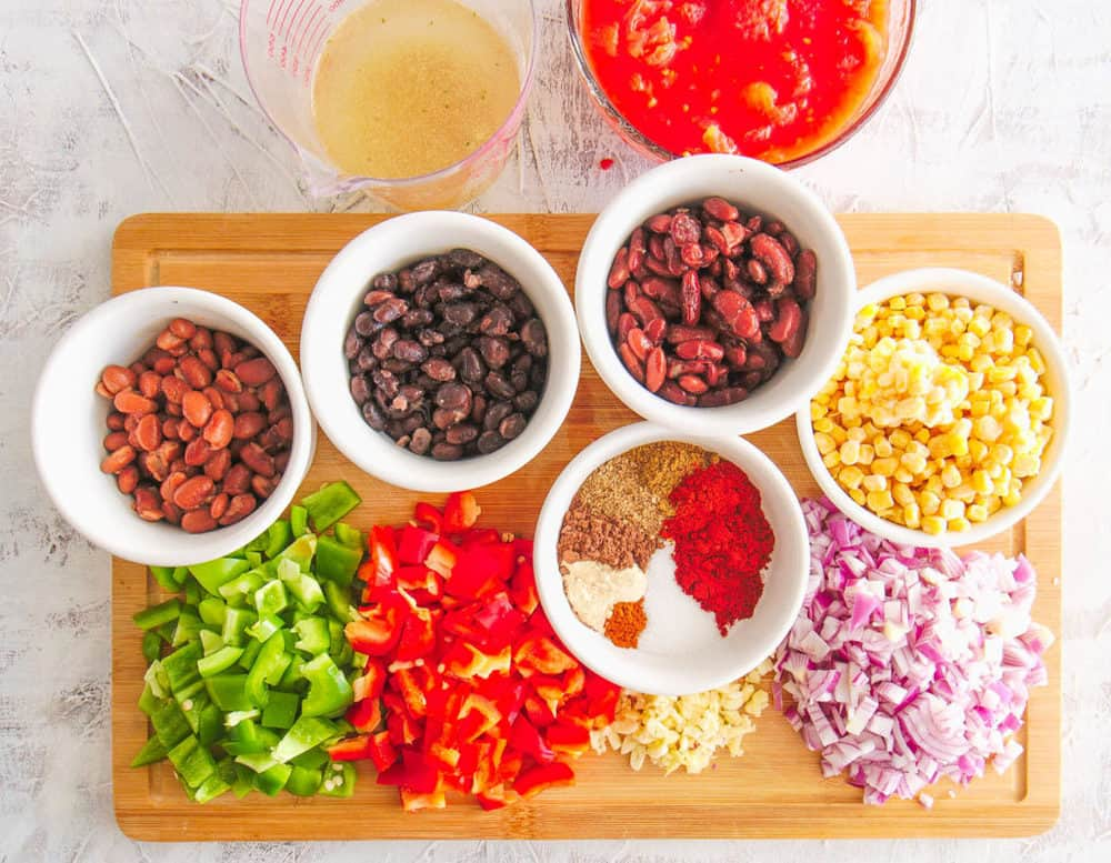ingredients for instant pot vegetarian chili