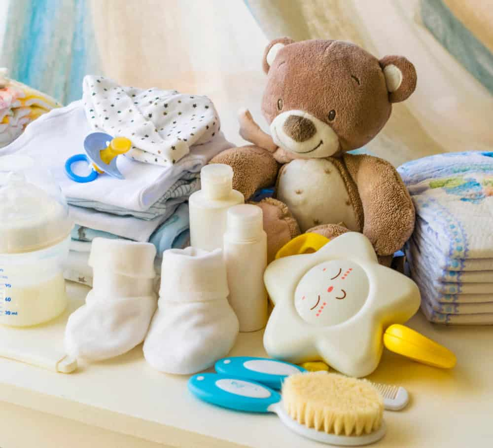 The Best Natural Products for Babies- photo of baby care products - clothes diapers socks stuffies