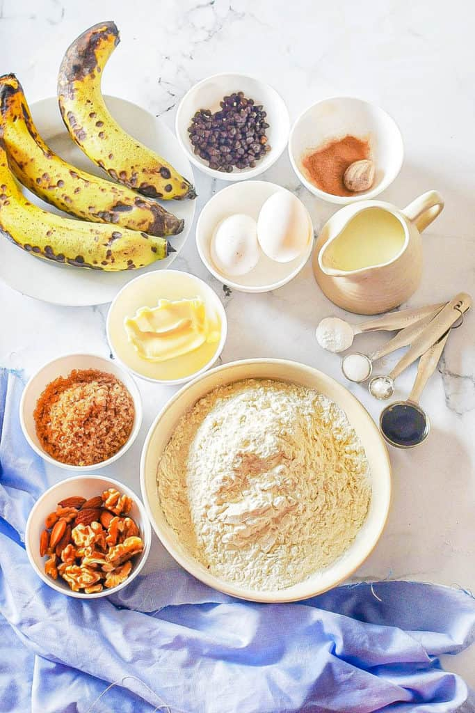ingredients for Chocolate Banana Muffin recipe