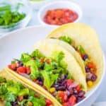 vegan tacos with black beans