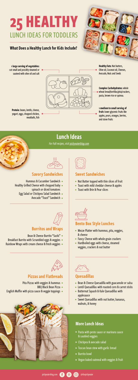 healthy toddler lunch ideas infographic