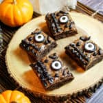spell book brownies - halloween desserts