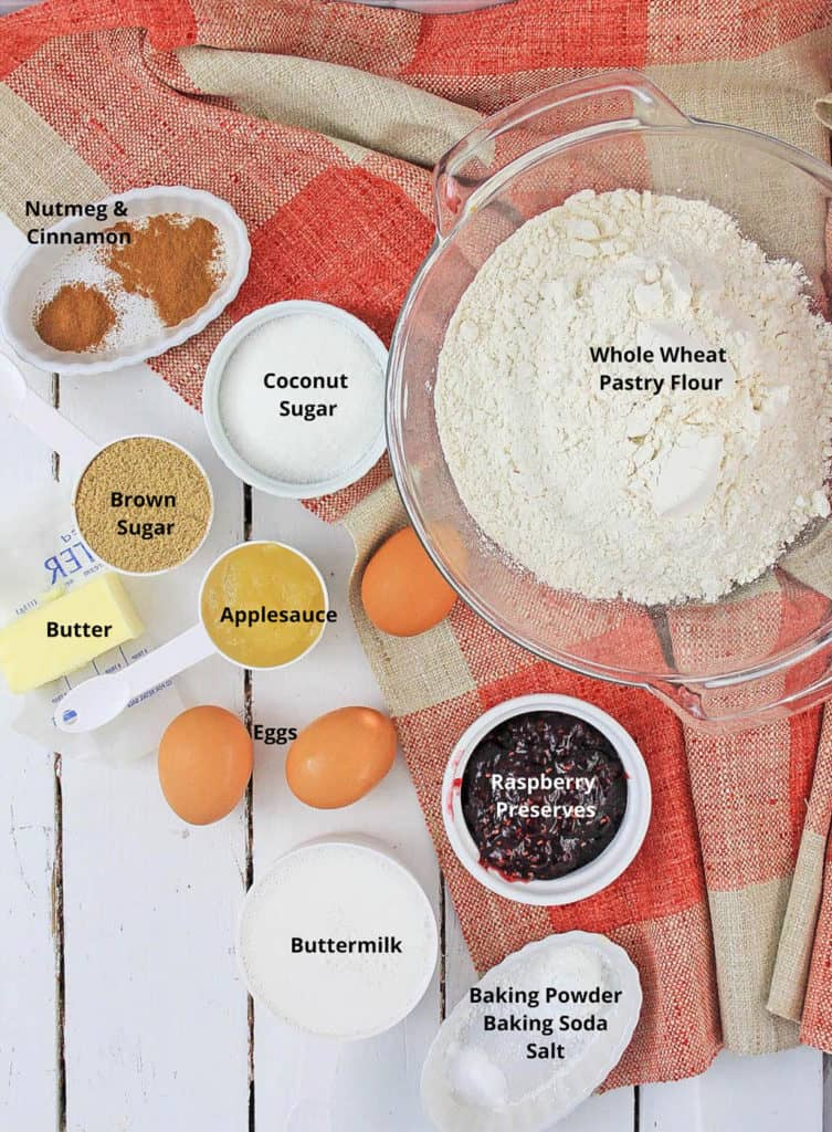 ingredients for cinnamon muffins