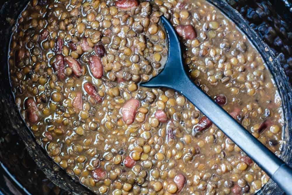 dry beans cooking in instant pot