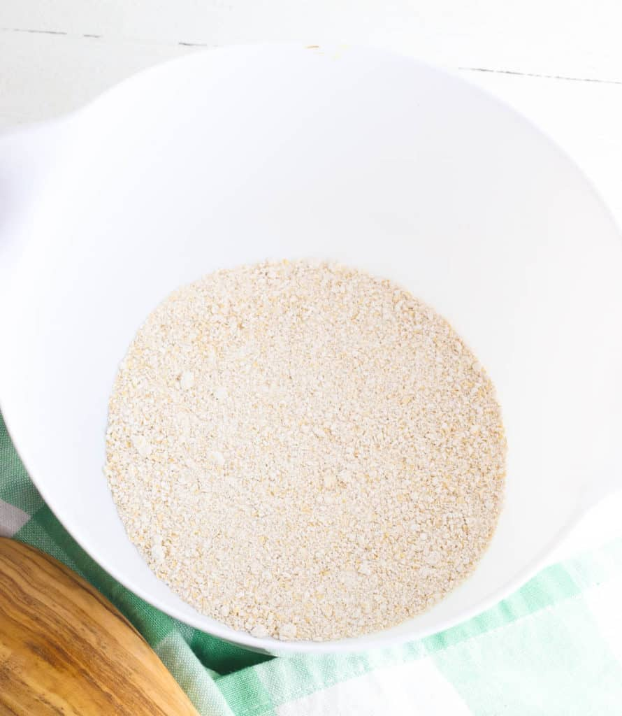 gluten free oats processed into a flour