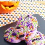 halloween monster cookies