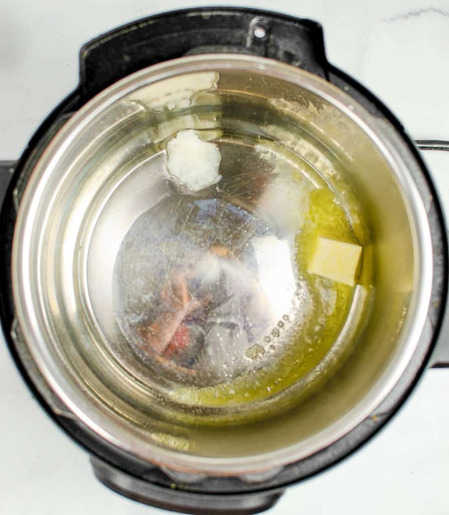 butter and oil in instant pot