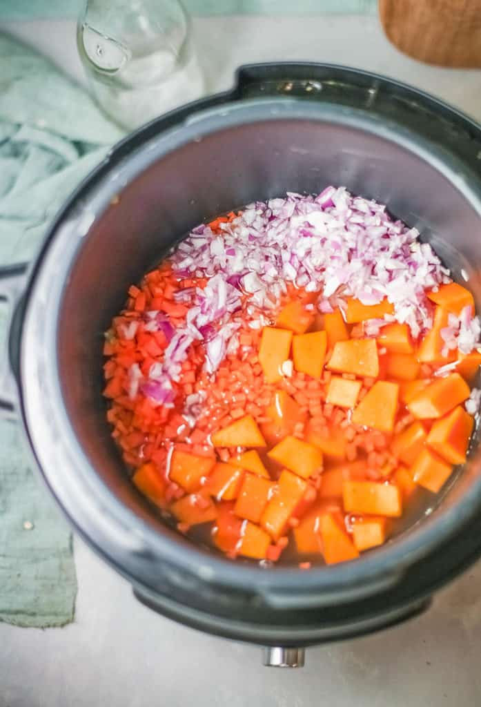soup simmering in a pot
