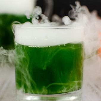 dry ice added to cocktail