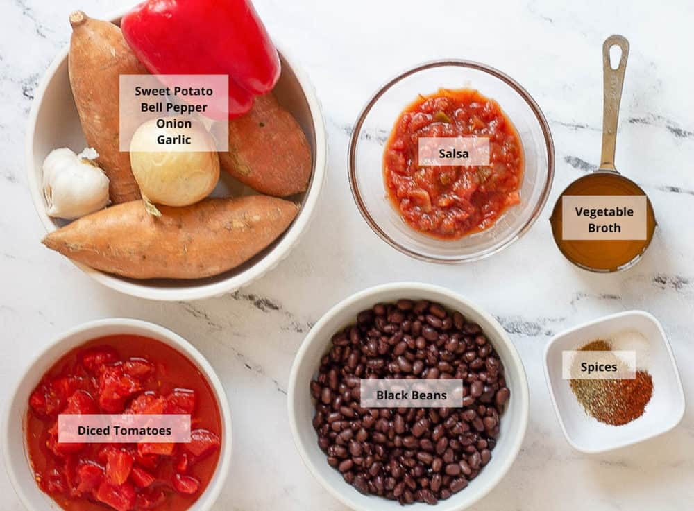 ingredients for vegan enchiladdas