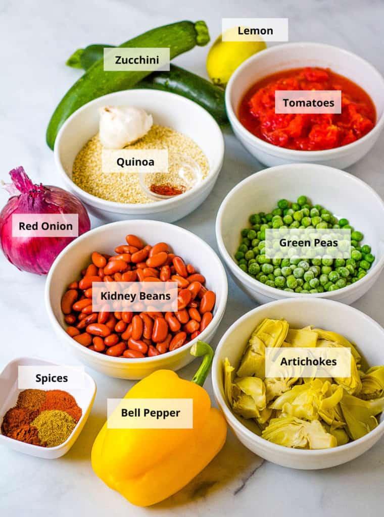 vegetarian paella ingredients
