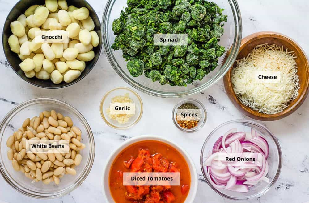 ingredients for veggie gnocchi