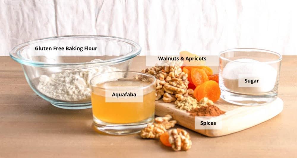 ingredients for gluten free biscotti