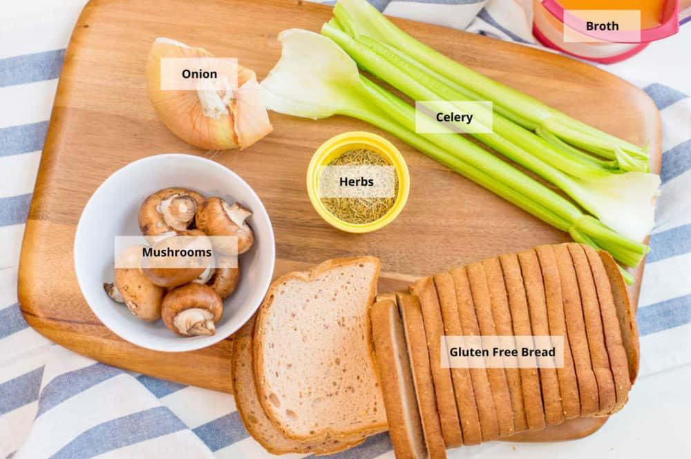 gluten free stuffing ingredients